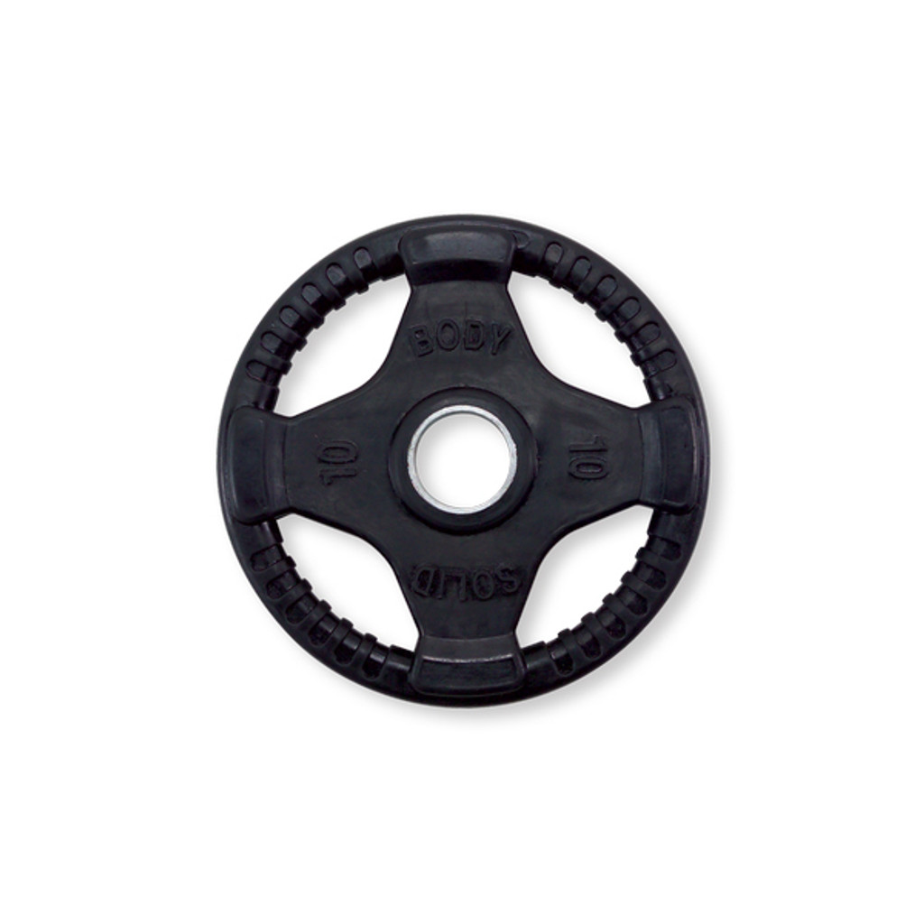 10 lb. Body Solid Quad-Grip Rubberized Weight Plate
