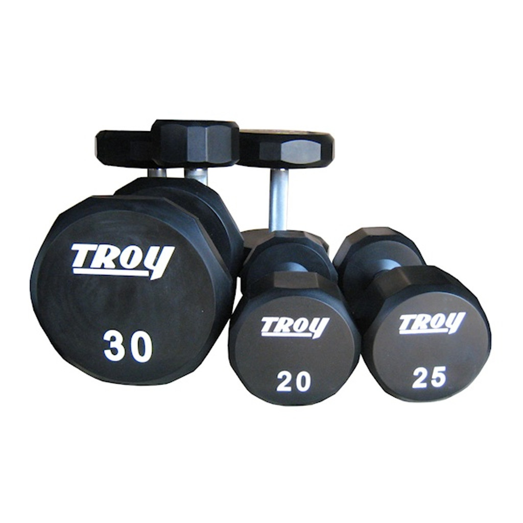 Troy TSD-U Commercial 12-Sided Dumbbells