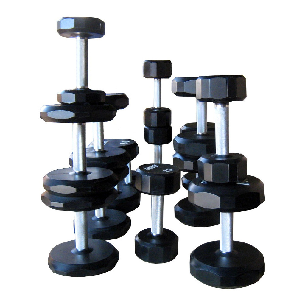 Troy Barbell Urethane Coated Gym Dumbbell Set