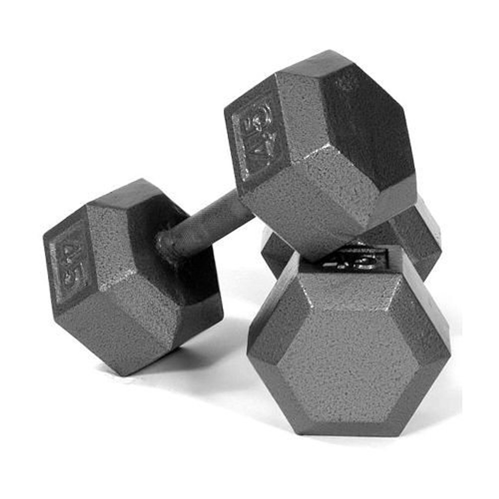 Troy USA Sports Iron Hex Dumbbells