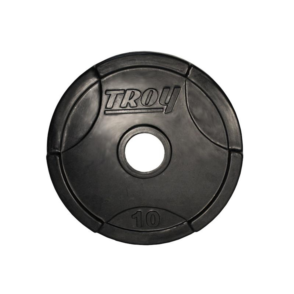 10 lb. Troy Rubber Encased Olympic Plate