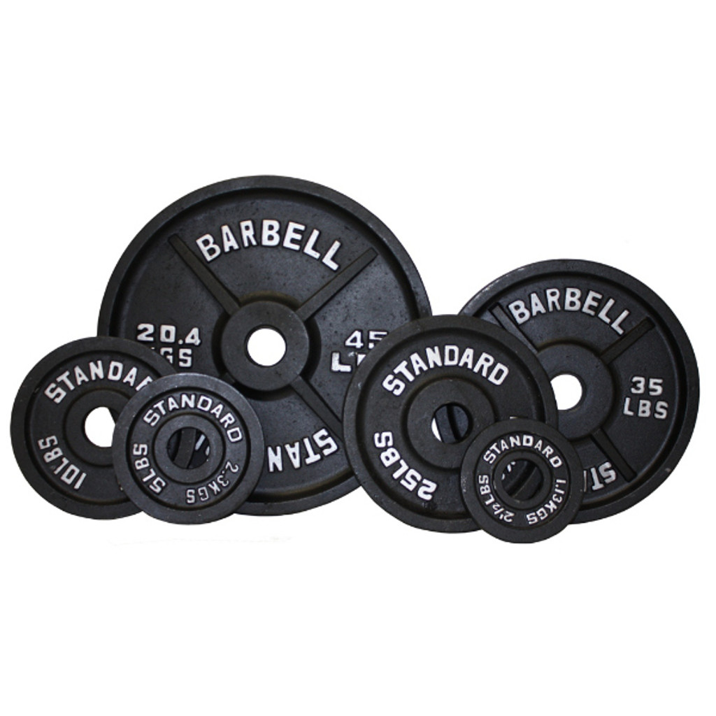 Troy USA Sports Black Weight Plates