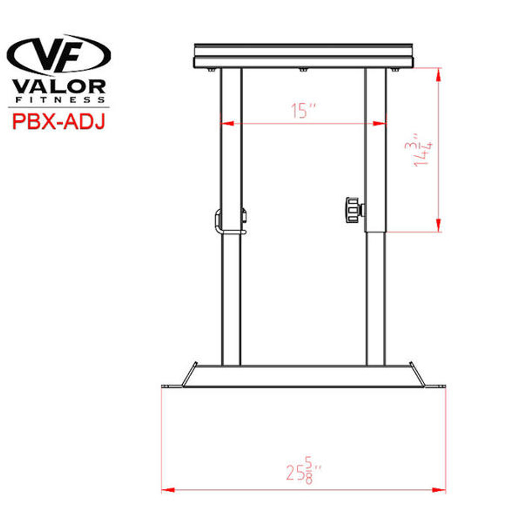 Valor Athletics Steel Plyo Box Dimensions