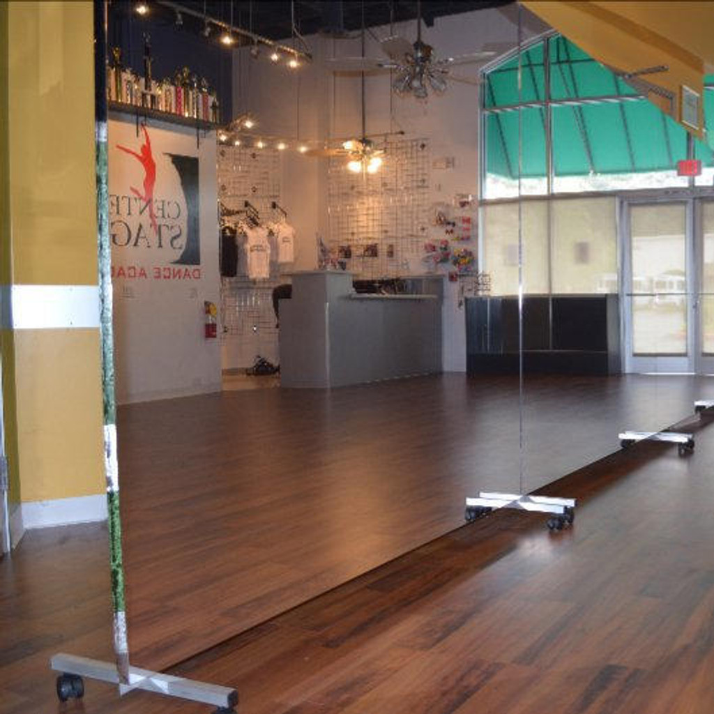 Glassless Dance Studio Mirrors Rolling Stand Gtech Fitness