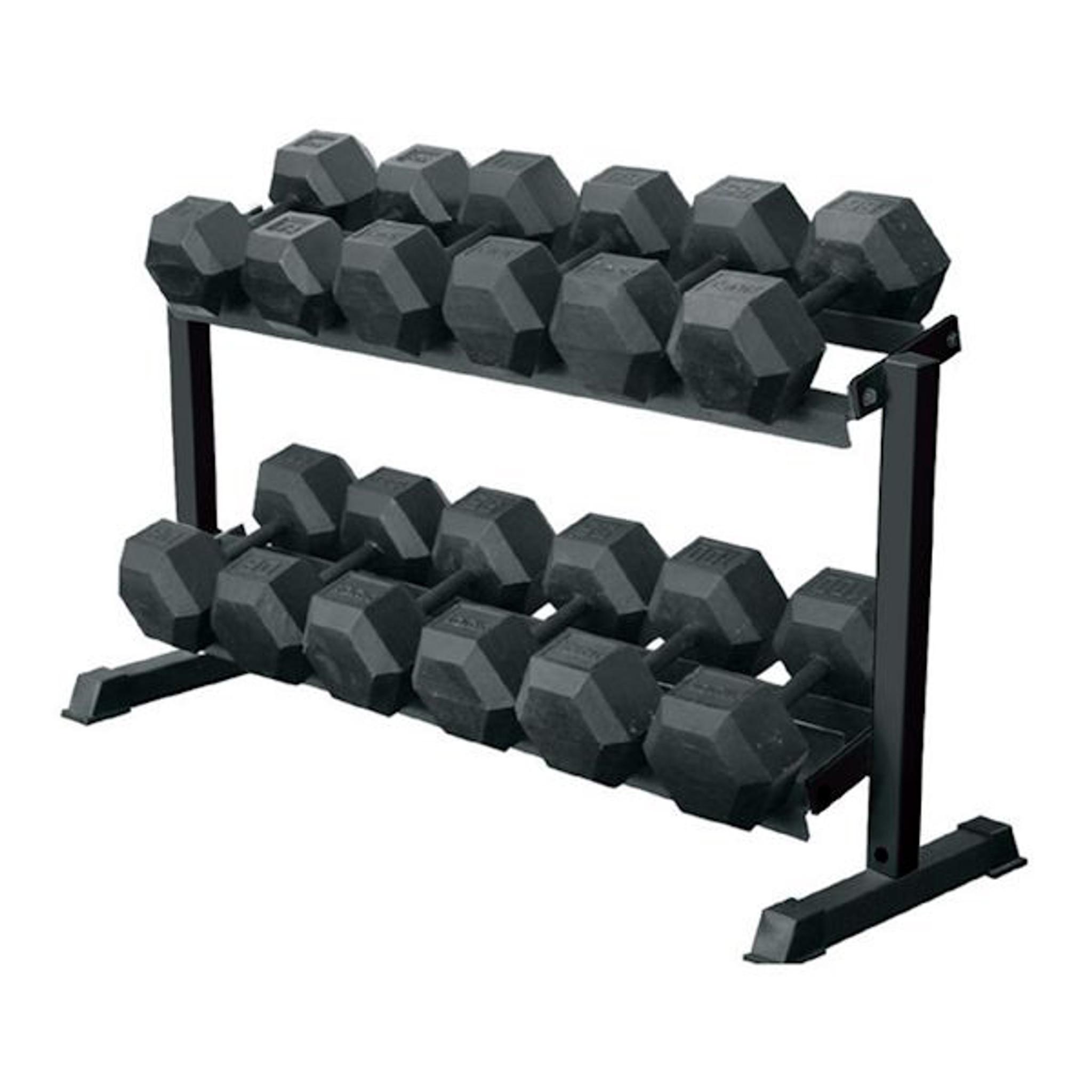 69126 2 Tier Pro Hex Dumbbell Rack York Gtech Fitness