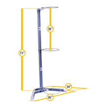 Body Solid GSR10 Workout Ball Holder Dimensions