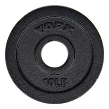 York 10 lb Cast Iron Barbell Standard Plate