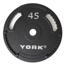 York 45 lb Olympic Grip Plate