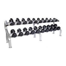 Troy Rubber Encased Dumbbell Set with Rack