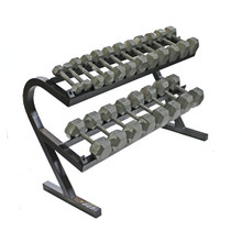 Troy USA Sports Hex Dumbbell Set with Rack - 5-50 lbs.