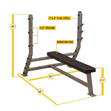 Body Solid Flat Olympic Workout Bench Dimensions