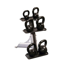 Body Solid Compact 3-Tier Kettlebell Rack