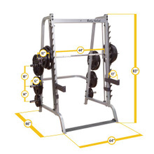 Body Solid Smith Workout Machine Dimensions