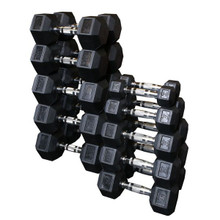 Body Solid Rubber Encased Hex Weights