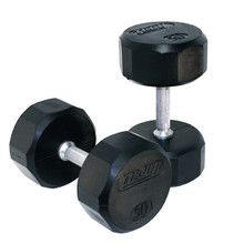 Troy Commercial Rubberized Dumbbells