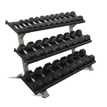 Inflight Fitness 5007-3 Commercial 3-Tier Weight Rack