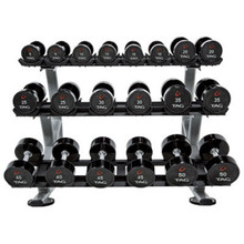 TAG Fitness Ultrathane Dumbbell Set w/ Rack
