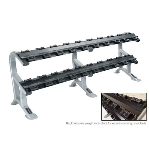 York Barbell ETS Commercial 2-Tier Saddle Rack