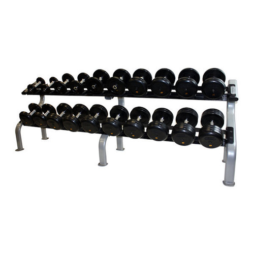 Troy Rubber Pro Style Dumbbell Set with Rack