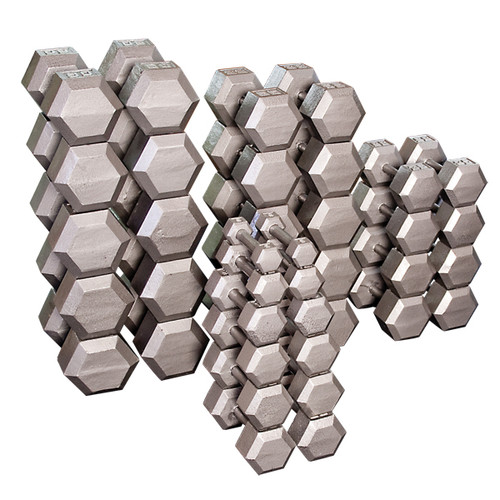 Body Solid SDS Cast Iron Hex Head Dumbbells