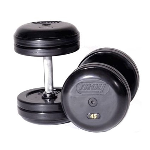 Troy Barbell RUFD Pro Style Rubber Dumbbell Set