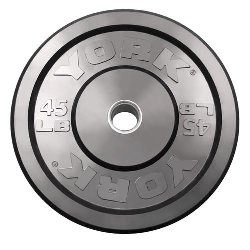 45 lb York Solid Rubber Bumper Plate