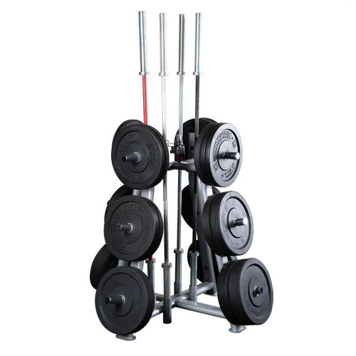 Body Solid Commercial Bumper Weight Tree with Bar Holders