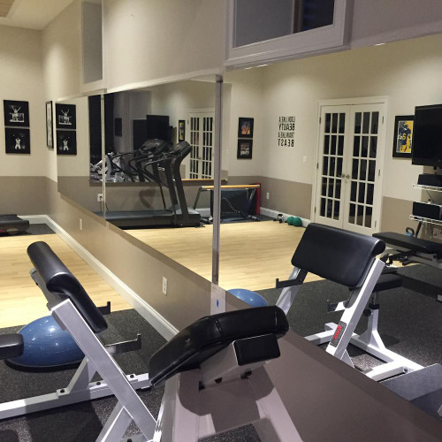 glassless gym mirrors wall mounted gtech fitness. Black Bedroom Furniture Sets. Home Design Ideas