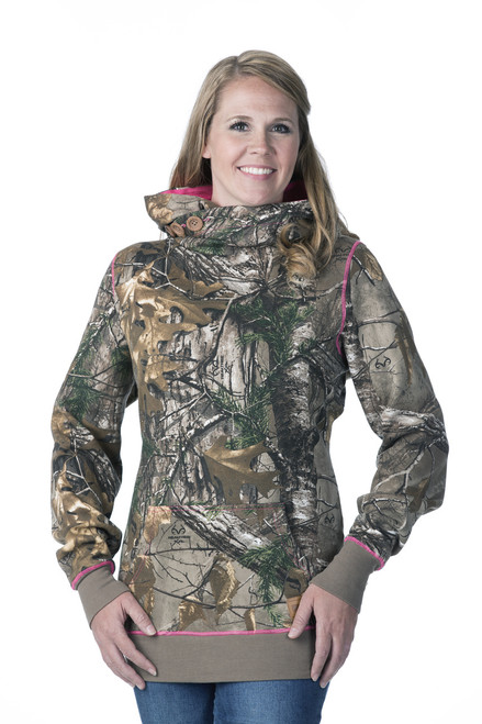 DSG Hunting Side Button Hoodie-Realtree Xtra/Pink