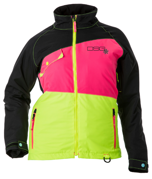 Verge Jacket - Black/Pink/Yellow