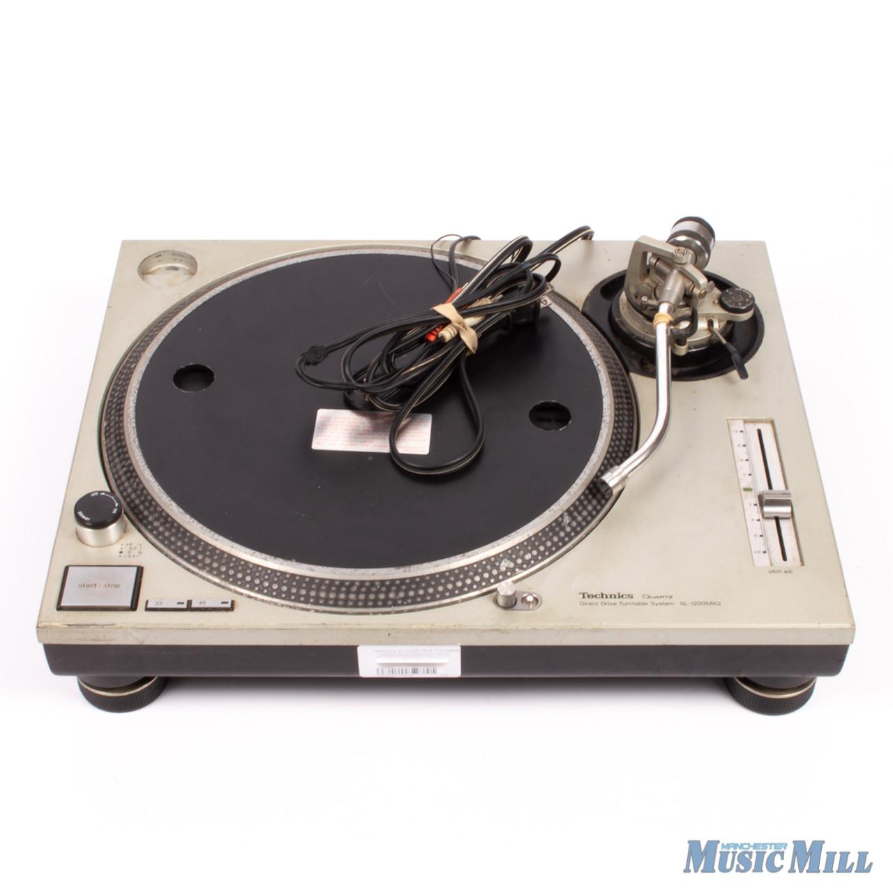 technics sl 1200mk2 manual stereo turntable used