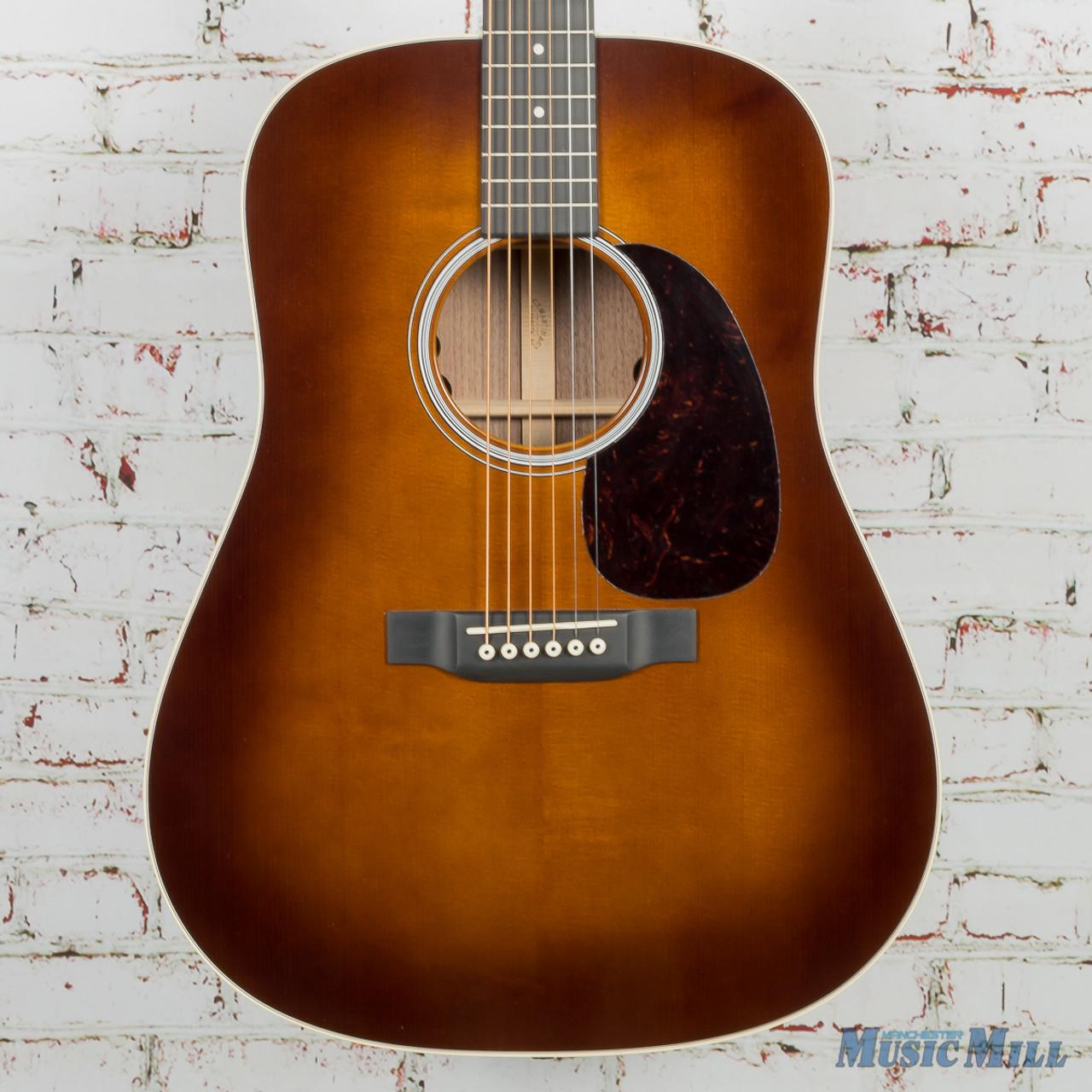 Martin De Black Walnut Acoustic Electric Guitar Ambertone