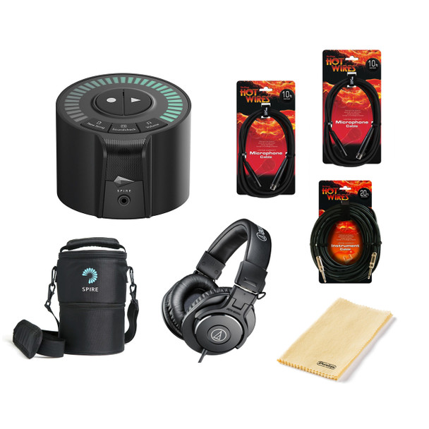 iZotope Spire Luxury Recording Bundle with ATH-M30X Headphones and More