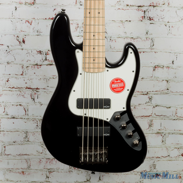 2018 Squier Contemporary Active Jazz Bass V HH - Black (USED)
