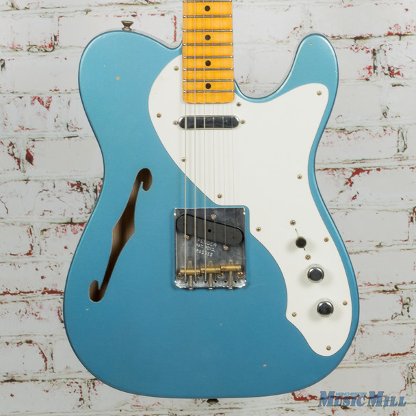 Fender Custom Shop LTD 50s Thinline Telecaster SFA Heavy Relic-Lake Placid Blue