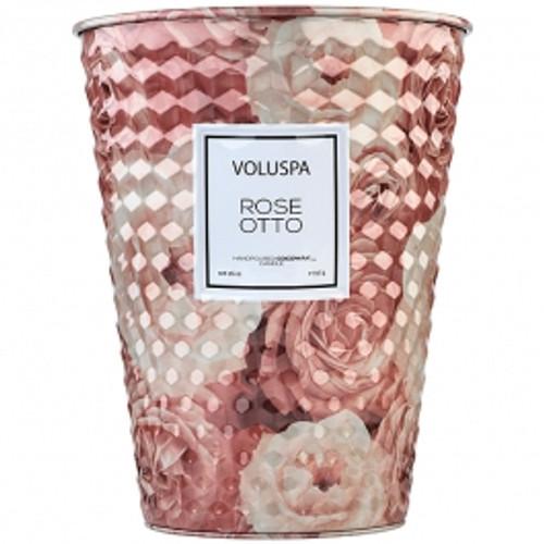 VOLUSPA - Rose Otto 2 Wick Tin Table Candle  26oz