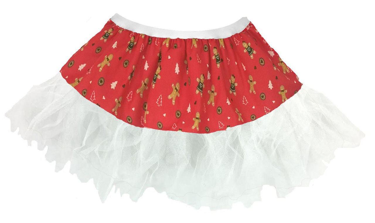32db3ec6a5a8 Ladies Festive Ginger Bread Man Cyber Tutu Womens Christmas Fancy Dress -  Dragons Den Fancy Dress Limited