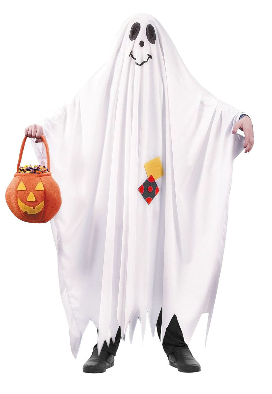 Kids Friendly Ghost Costume Bed Sheet Style Funny Halloween Dress Up  sc 1 st  The Dragons Den Fancy Dress & Kids Friendly Ghost Costume Bed Sheet Style Funny Halloween Dress Up ...