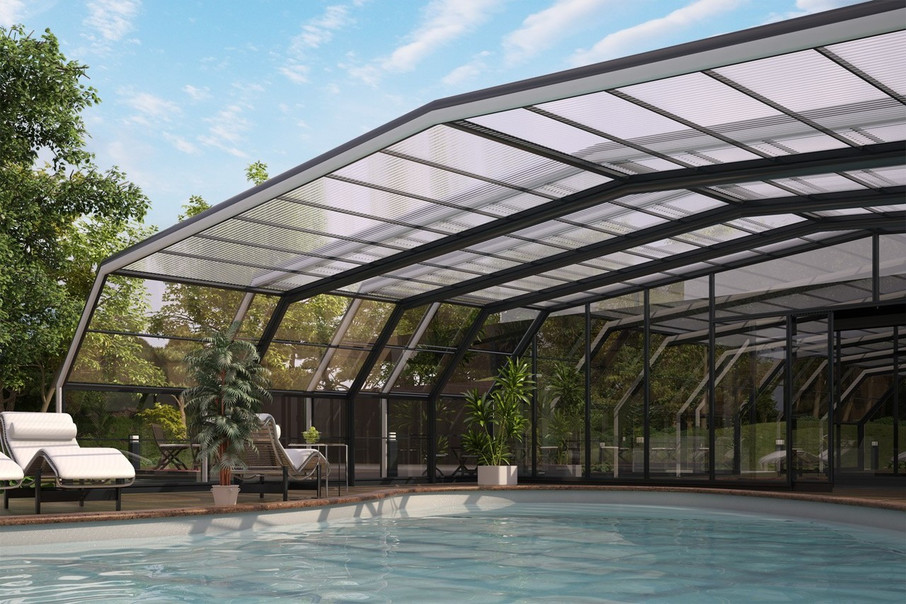Telescopic Retractable Swimming Pool Enclosures