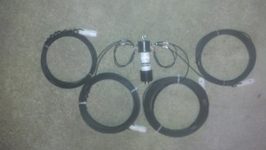 160/80 meter fan dipole with 1:1 balun