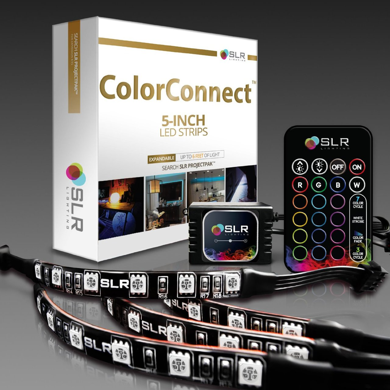 Colorconnect light kit with 5 inch led strips simple living redefined rgb led light kit for home aloadofball Images