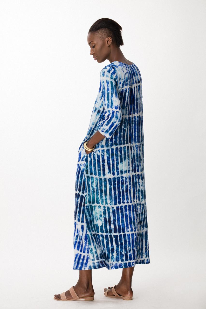 Nima Dress, Marine Chalk