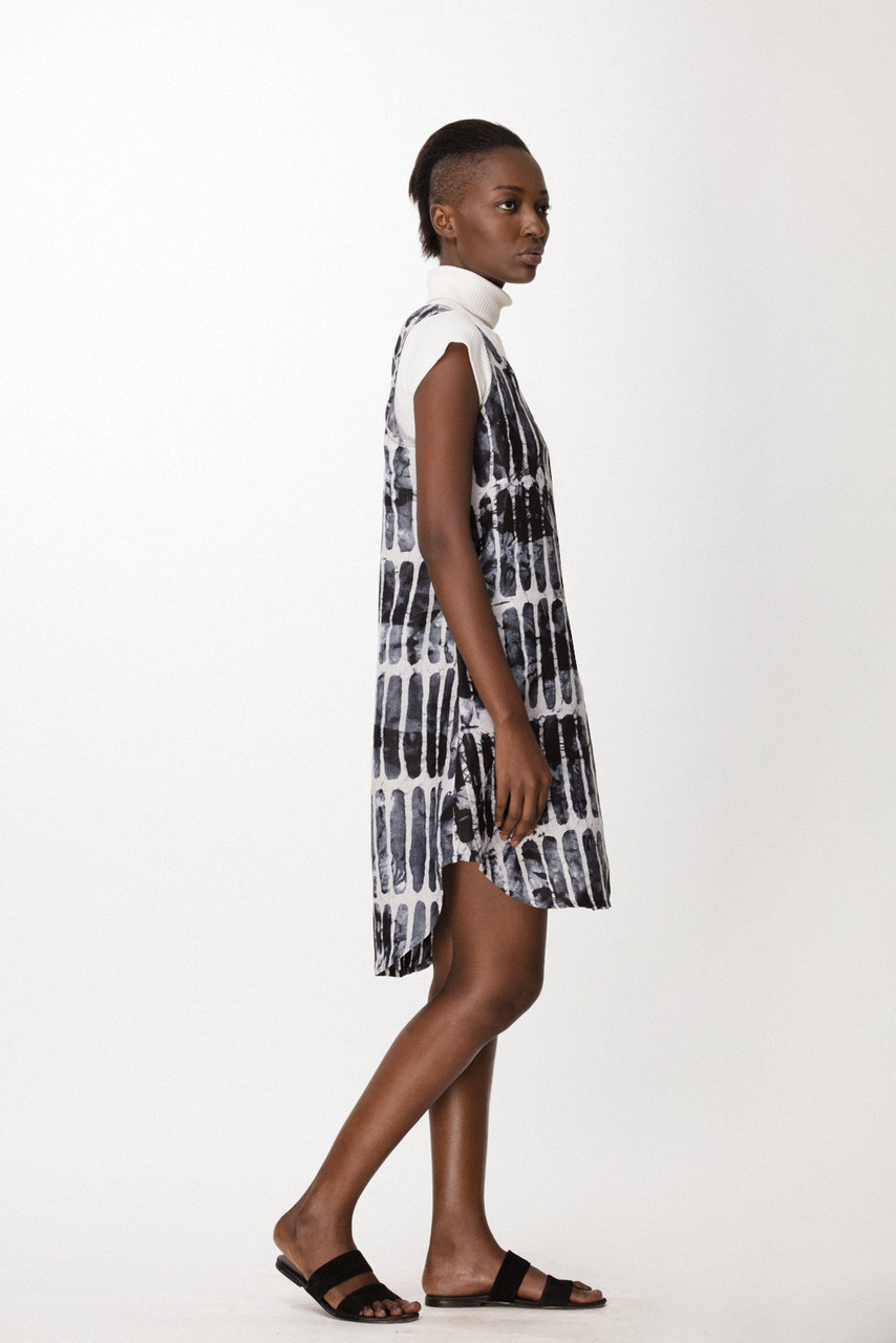 Runa Dress, Black Chalk