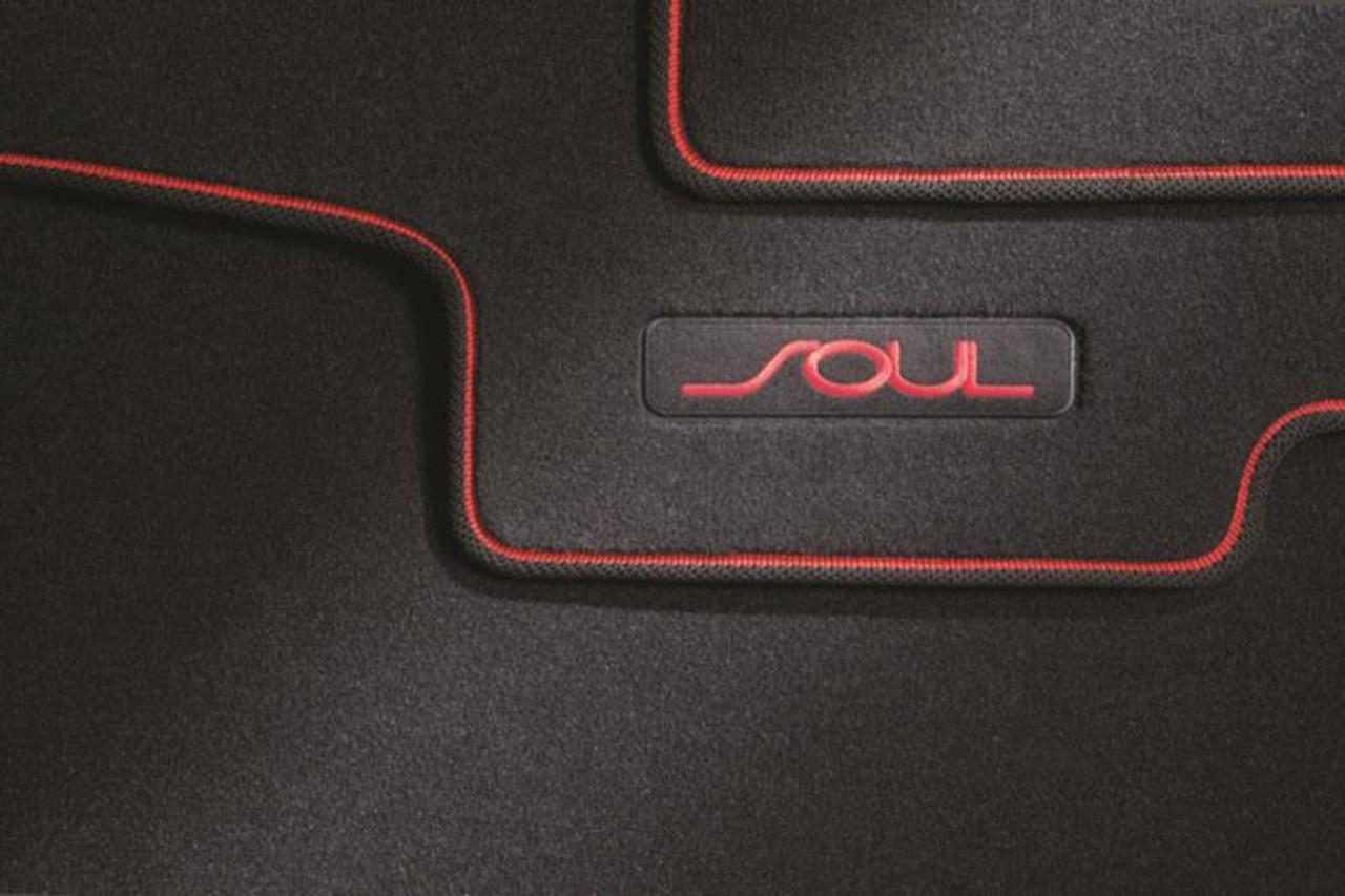 Perfect Kia Soul Floor Mats   Red Logo