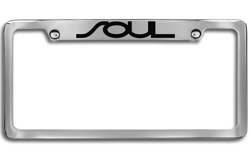 Kia Soul Black Upper Logo License Plate Frame