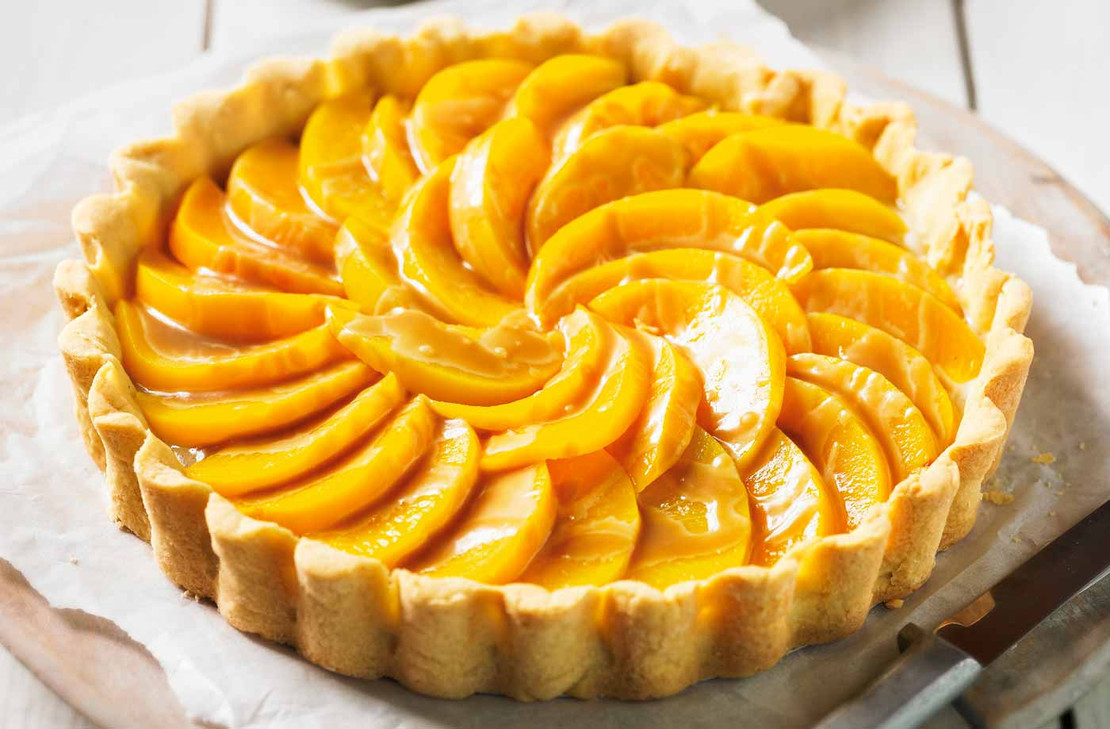 Fresh Peach Balsamic Tart