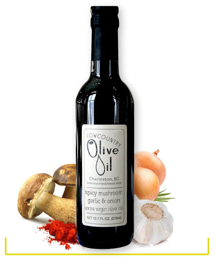 Spicy Mushroom, Onion and Garlic Olive Oil