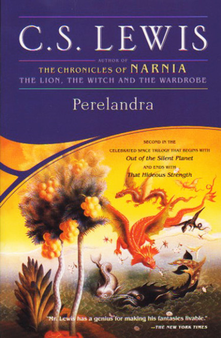 Perelandra book novel by C. S. Lewis. Simon and Schuster. Space Trilogy book 2.