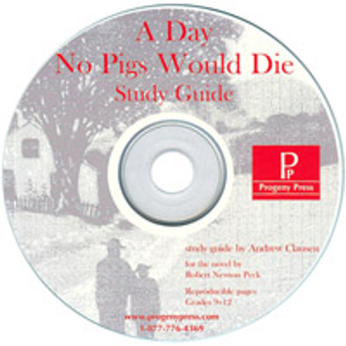 A Day No Pigs Would Die by Robert Newton Peck, unit study guide lesson plans for literature and reading from a Christian worldview with Biblical integration. Teacher resource curriculum, hands on ideas, projects, worksheets, comprehension questions, and activities.