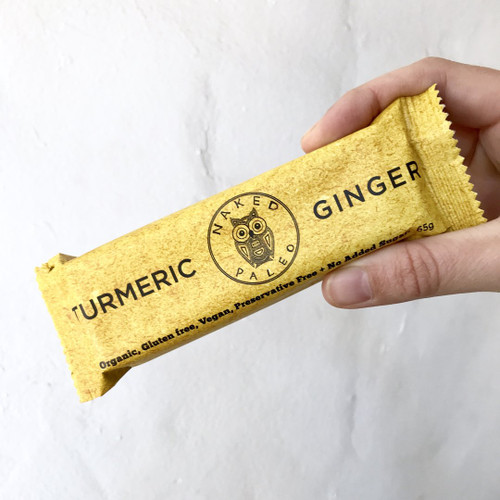 The golden one! A bar with both powerhouses, Turmeric and Ginger, to reduce inflammation and keep colds and flus at bay.